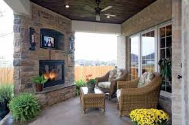 traditional porch with outdoor seating u0026 exterior brick siding