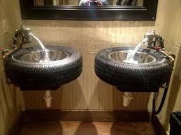 Diy Bathroom Vanities Diy Reused Tire Projects Diy Recycled Homemade Bathroom Vanity