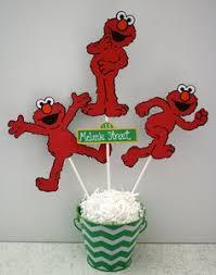 Elmo Centerpieces Ideas by Large Elmo Centerpiece Picks Full Body Set Of 3 Elmo