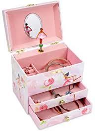 Personalized Ballerina Jewelry Box Amazon Com Nia Ballerina Black Ballerina Musical Jewelry Box