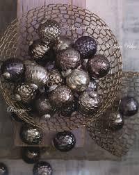 stylish design tree ornaments sets mercury glass