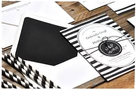 black and white striped wedding invitations casual stripe wedding invitation suite smitten on paper