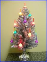 christopher radko shiny brite light tree silver
