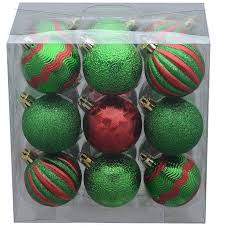 time 18 pack green pumpkin style ornaments