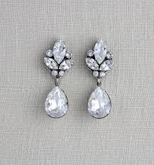 earrings ideas wedding ideas swarovski wedding earrings ideas il fullxfull
