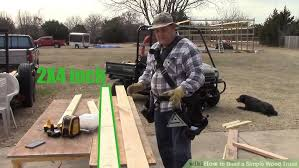How To Make A Simple Storage Shed by How To Build A Simple Wood Truss 14 Steps With Pictures