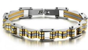 mens bracelet titanium images Buy mens titanium gold bracelet for men fashion jewelry design jpg