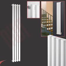 vertical white designer radiators oval tube u0026amp flat panels