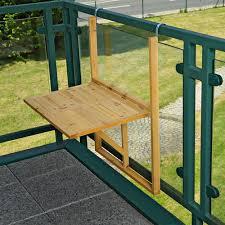 wooden balcony outdoor terrace porch patio rail hang folding table