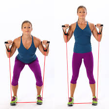 Chair Resistance Band Exercises Easy Resistance Band Exercises Popsugar Fitness