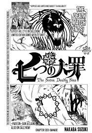 the seven deadly sins the seven deadly sins 233 manga stream