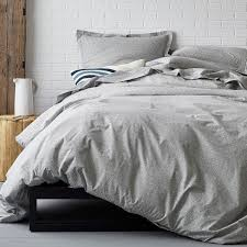 The Duvet Store Domino On Point Org Percale Duvet Cover Dk Gray The Company Store