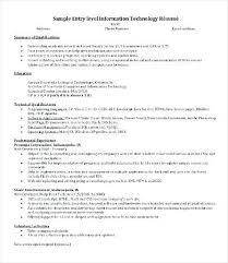 entry level sales resume entry level it resume u2013 inssite