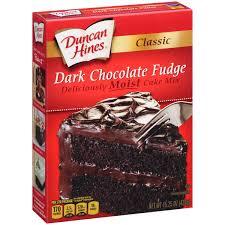 Walmart Halloween Cakes Duncan Hines Classic Dark Chocolate Fudge Cake Mix 15 25 Oz