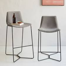 bar or counter stools slope upholstered bar counter stools west elm