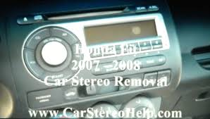 how to honda fit car stereo removal 2007 2008 replace repair aux