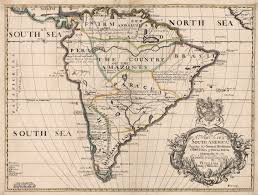 Maps Of South America by 1700 A New Map Of South America Shewing It U0027s General Divisions