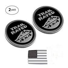 jeep black emblem jeep black trail 4x4 trunk tailgate fender emblem badge logo