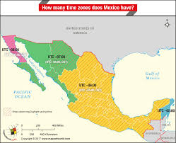 map of time zones usa and mexico how many time zones does mexico answers