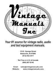 notice vintage manuals
