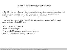 Sales Manager Cover Letter by Sales Manager Cover Letter