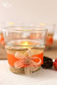 thanksgiving crafts simple tea lights for the table