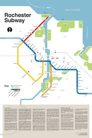 Brown Line Map Stylized Map Of The Old Subway In Rochester Ny With Write Up