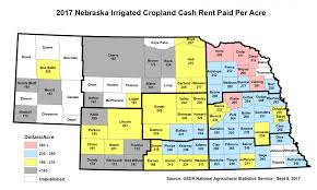 Map Of Counties In Nebraska By The Numbers Who U0027s Paying How Much In Cash Rent Cropwatch