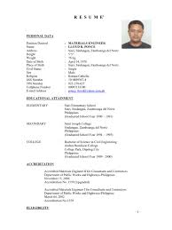 Qa Qc Engineer Resume Sample by Material Engineer Resume Free Resume Example And Writing Download