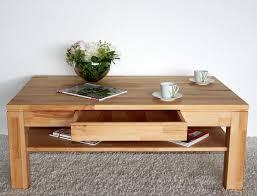 Wohnzimmer Tisch Couchtisch 115x70 Wohnzimmertisch 1 Schubkasten Kernbuche Massiv Geölt