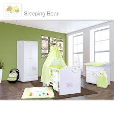 babyzimmer grün babyzimmer 10 tlg in weiß mit 2 türigem kl set sleeping