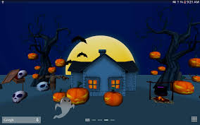 halloween themed backgrounds 3d halloween live wallpaper android apps on google play