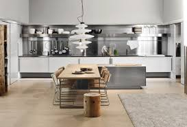 simple kitchen with aluminium furniture design for small space by