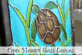 diy canvas painting faux stained glass crafts unleashed