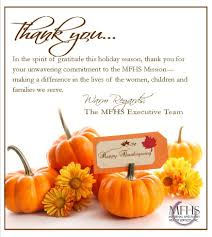 happy thanksgiving from mfhs maternal and family health