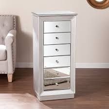Armoire Drawers Jasmine 6 Drawer Glam Jewelry Armoire Mirrored Target
