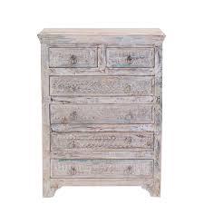 little tree furniture whiteleaf upcycled 6 drawer chest white