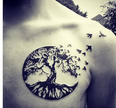 tree made out of birds http pairodicetattoos com tree of