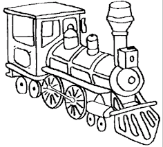 head train coloring pages transportation