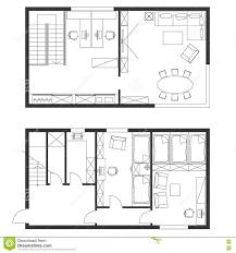 Floor Plan Furniture Symbols Creativity Floor Plan Office Furniture Symbols Illustration