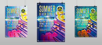 summer beach sunset party flyer template hollymolly