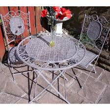 Grey Bistro Table The Avignon Antique Grey Bistro Set Table And Two Chairs