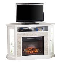 Electric Fireplace Tv by Southern Enterprises Redden Corner Electric Fireplace Tv Stand