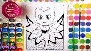 learn colors for kids and watercolor owlette pj masks super hero