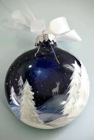 unique ornaments blue ornament white reindeer deer starry