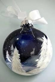 unique ornaments blue ornament white reindeer deer starry