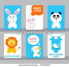 Panda Baby Shower Invitations - baby shower invitation template greeting card stock vector