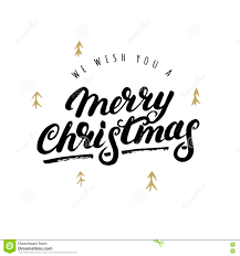 we wish you a merry written lettering stock vector
