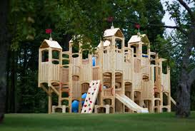How To Build A Wooden Playset Backyard Swing Set Plans Home Outdoor Decoration