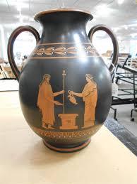 Wedgwood Vase Wedgwood Encaustic Decorated Black Basalt Vase Sale Number 2850b